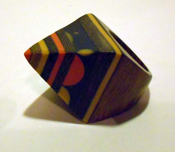 pencil wooden ring by WeAreIdiotech on Etsy, €13.00