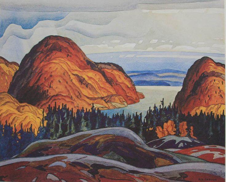 A. J. Casson North Shore lake Superior 1928