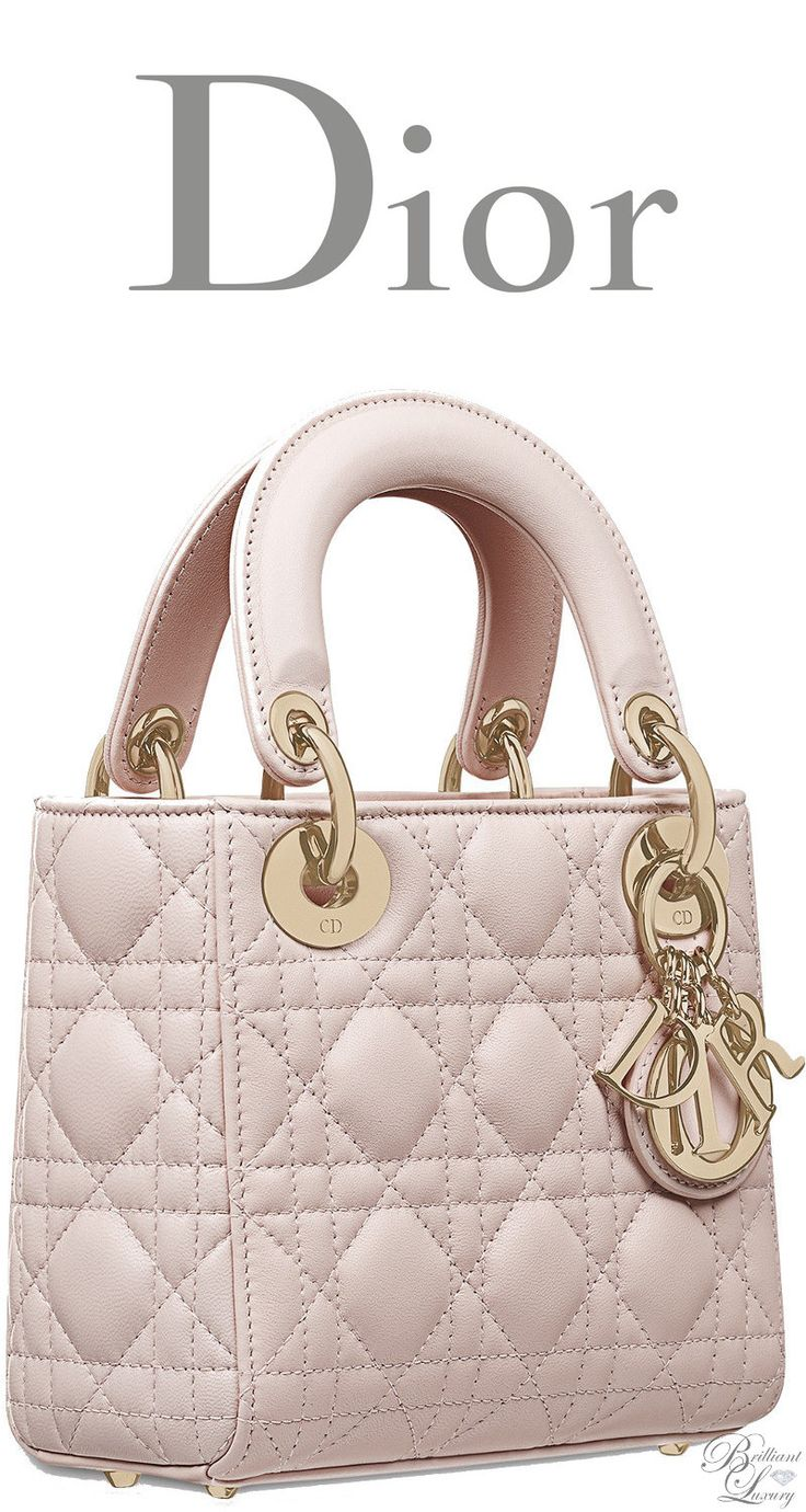 Brilliant Luxury * Dior Classic 2016 ~ Mini Lady Dior bag in Rose Poudre lambskin