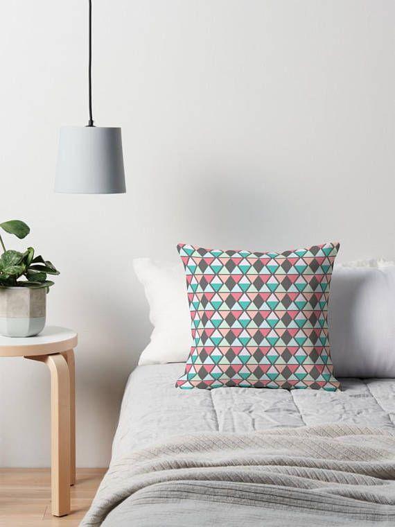Grey Throw pillow grey cushion geometric cushion geometric