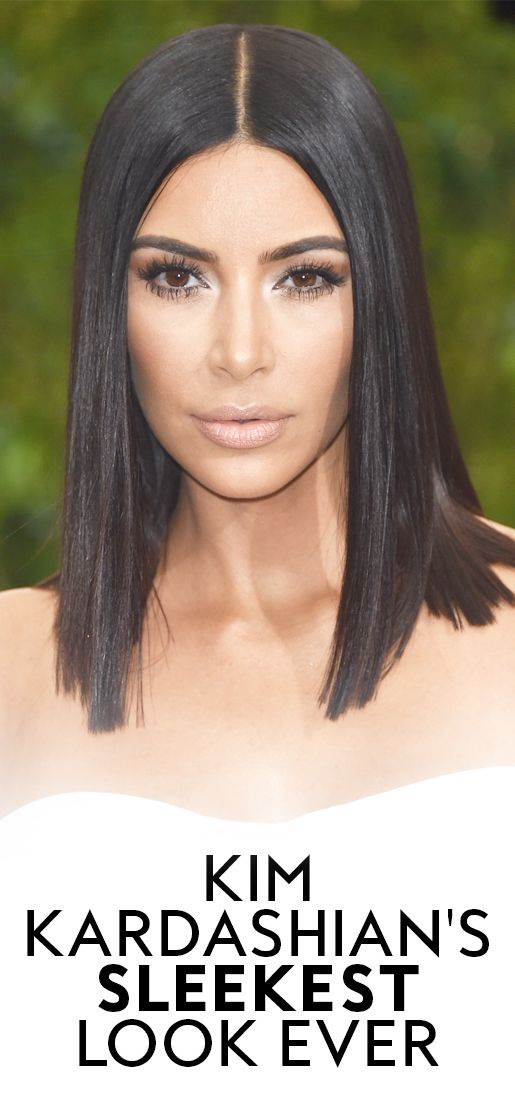 Kim Kardashian's latest hairstyle will make you think fly-aways aren't even a thing.