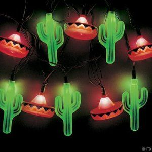 Cactus And Sombrero Fairy Lights The Best House In The