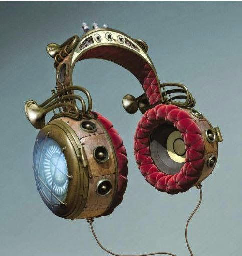 Steampunk headphones:  Dark Roasted Blend: DRB Feel-Good Issue #22