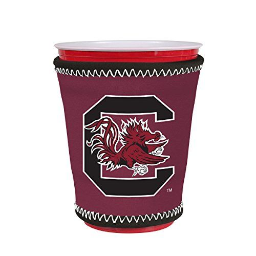 NCAA Logo Coolie Cup Holder Sleeve Fitting Plastic Cups Pint Glasses Coffee Cups Ice Cream Etc  Neoprene and Bottomless South Carolina Gamecocks ** Learn more by visiting the image link.