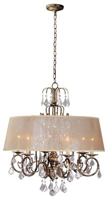 Chandeliers 23 pinterest c117 1946 90 by world imports belle marie collection antique gold finish 6 mozeypictures Gallery