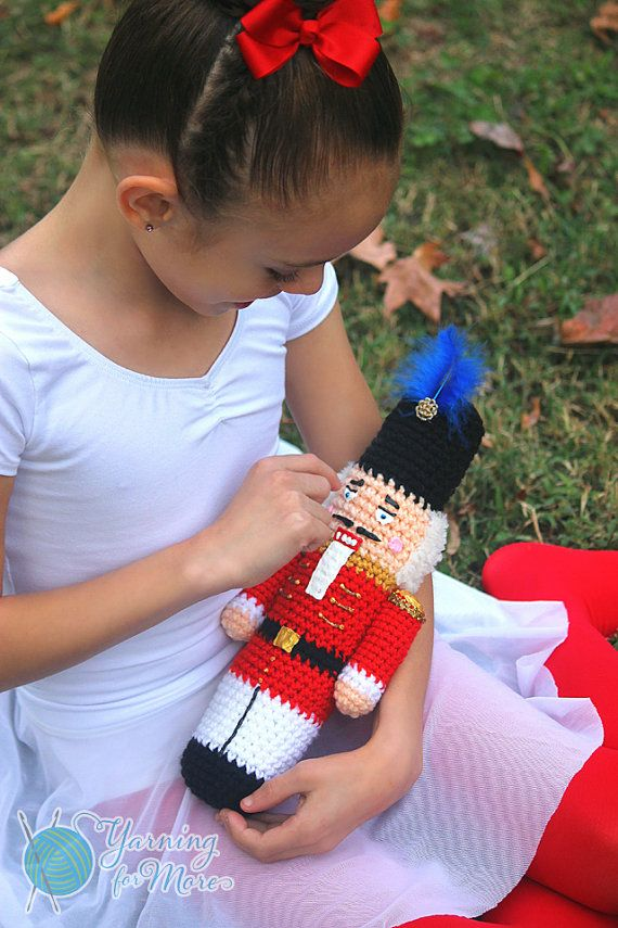 Crochet Nutcracker by YarningforMore2011 on Etsy