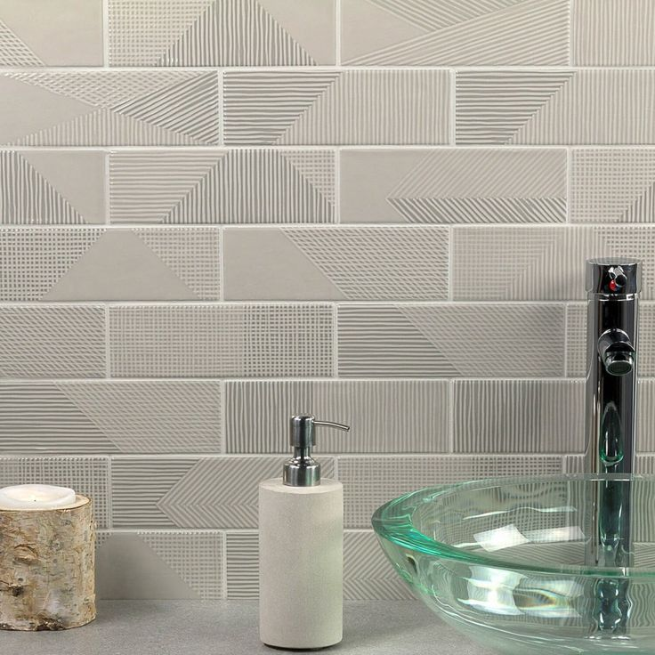 Enigma Gray Pearl 2x8 Polished Ceramic Tile In 2020
