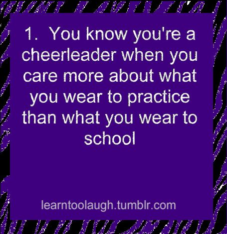 Lol at our school the cheerleaders look dull no make up hair ain't done nails are bit. But on game days it's all Glitter and Hairspray!
