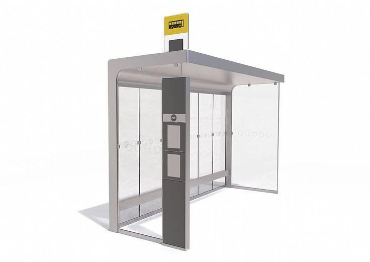 Busstop & Shelter design for Nordjyllands Trafikselskab (NT) by C.F. Møller Design