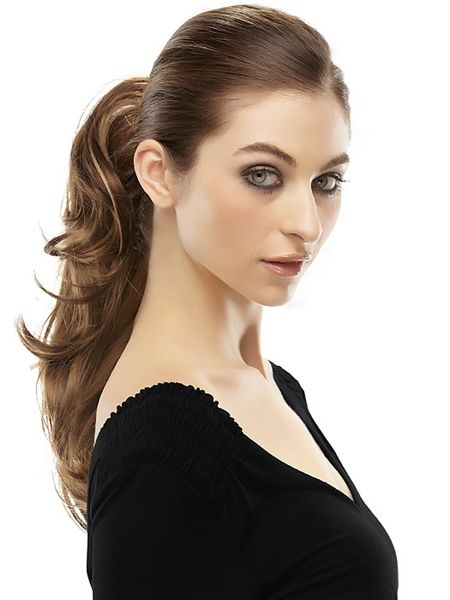 14' Rampage Clip In Ponytail by easiHair is a mid-length synthetic ponytail hair piece with flipped ends. Add colour and length instantly with easiHair clip in ponytails that are a glamorous and easy way to create a new look.
