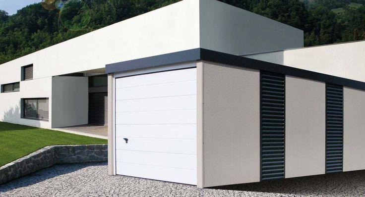 MyPort Garage mit Wandelementen und Sektionaltor. #Garage #Fertiggarage #Stahlgarage # Metallgarage #Doppelgarage #Einzelgarage #Wohnmobil #Caravan #Wohnwagen #Auto #Fahrrad #design #architecture #architektur #myport