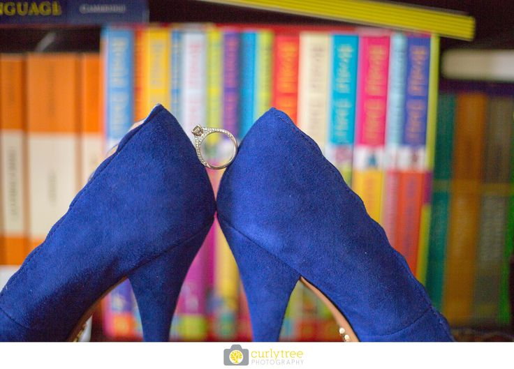 Sydney Wedding Photographer - Royal Blue Velvet Wedding Shoes