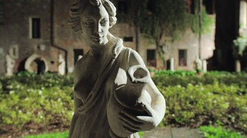Water Pitcher, Breast (Human), Mysterious, Venice (Italy), Artwork, Statue, Garden, Mediterranean Area, Night, No People,