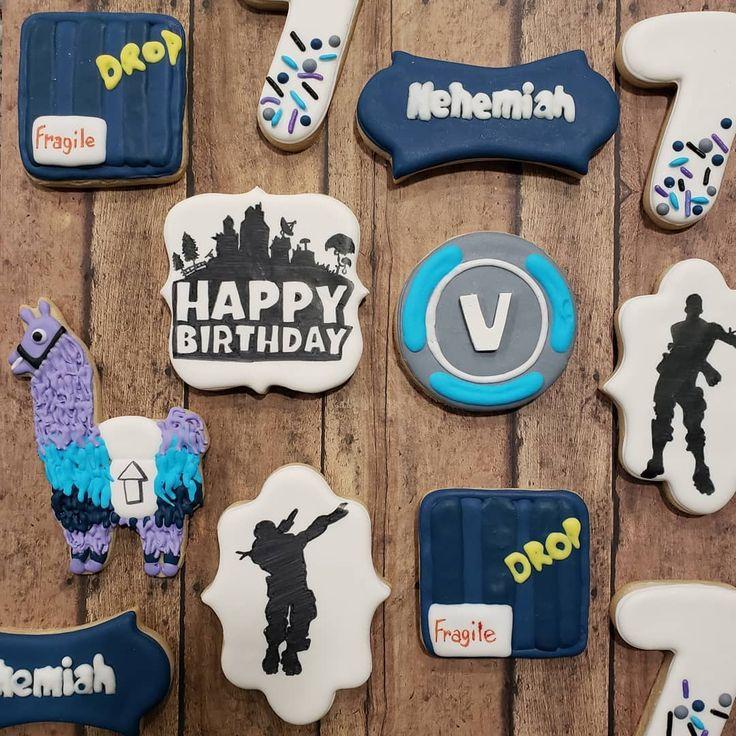Fortnite birthday cookies cookiesbycrystal fortnite