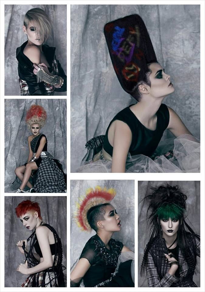 #ParadiseGarage #punk #collection #iwantthathair #creativearteam #raw #edgy #photoshoot #hair #fashion #grafitti