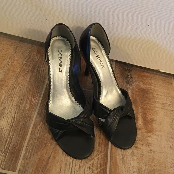 Black peep toes Black bcbg sexy heels BCBGirls Shoes Heels