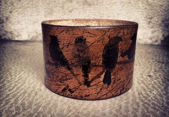 Rustic Brown Leather Cuff Bracelet