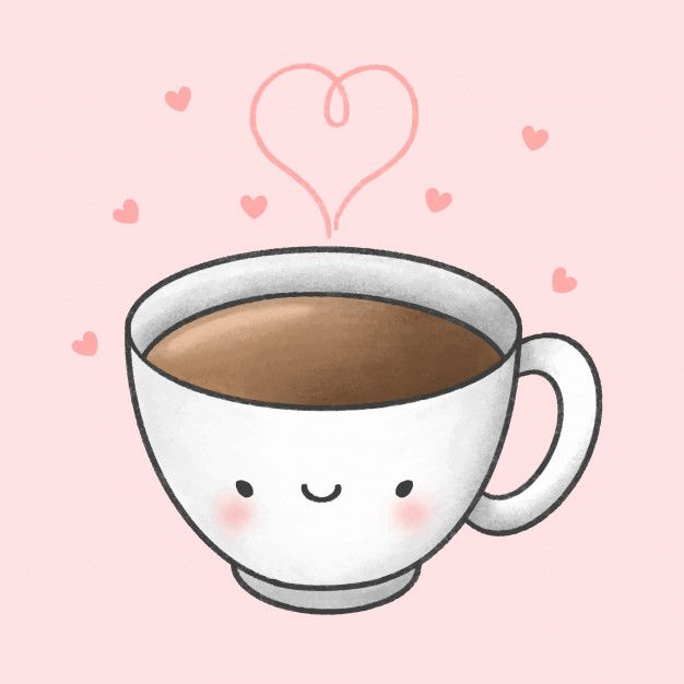 Cute Cartoon Coffee Cup Drawing | Coffee cartoon, Coffee