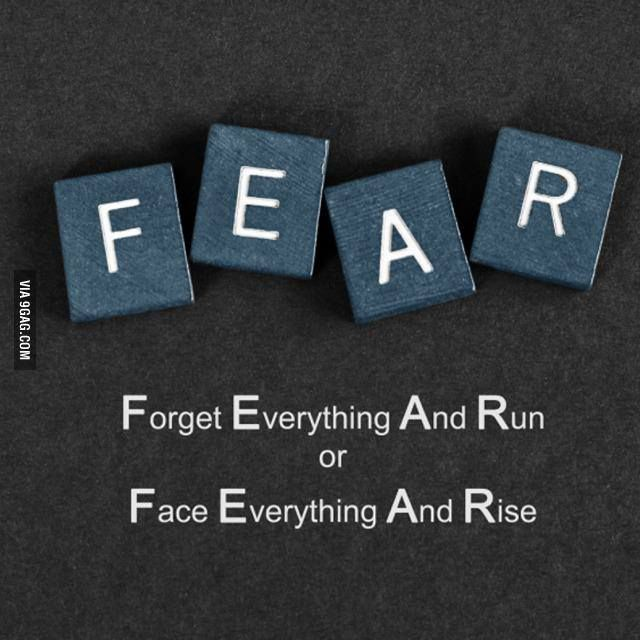 FEAR: Forget Everything And Run  or Face Everything And Rise