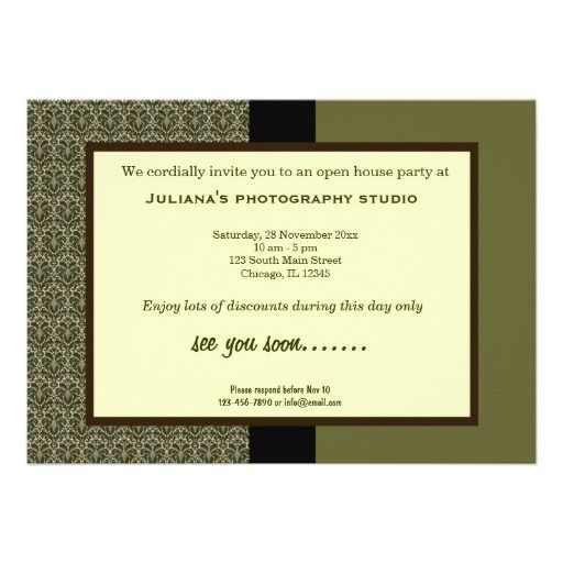 Open House New Business Custom Announcements