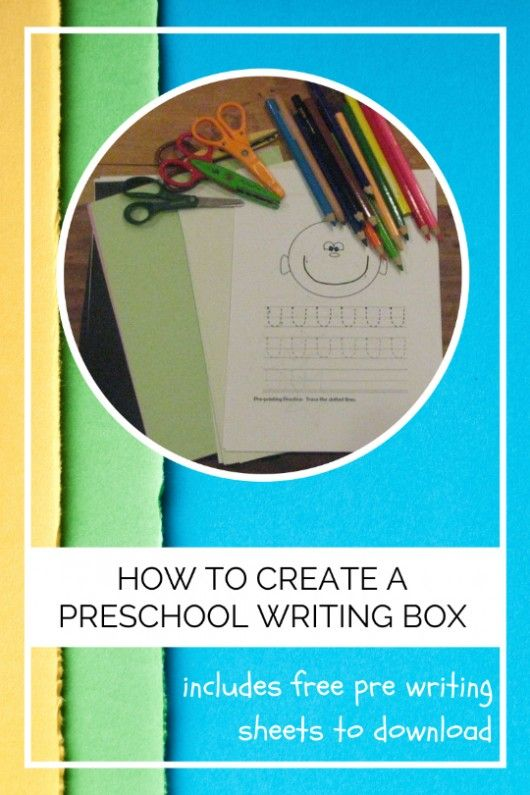 How To Create A Preschool Writing Box - A guide on putting together a preschool writing box, to encourage your preschooler to practice her fine motor skills
