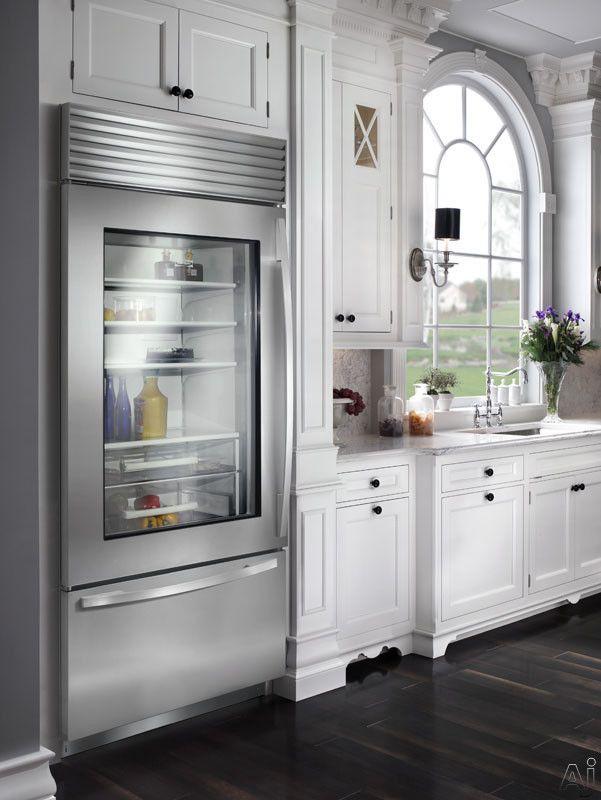 Sub-Zero Glass front refrigerator with bottom freezer