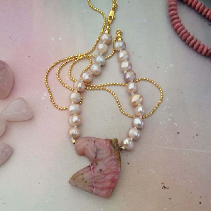 Grandmas' pearls never looked so good  Checkout Quartz+Love on Facebook to link to our shop