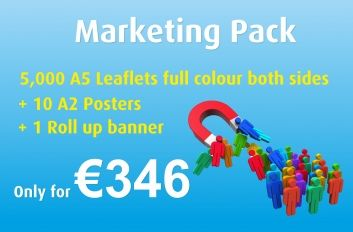 Get 5,000 A5 Leaflets printed both sides on 130 gloss.