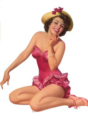 Sisters' Warehouse: Vintage Pin Up Illustrations - Illustrazioni Vintage di Pin Up