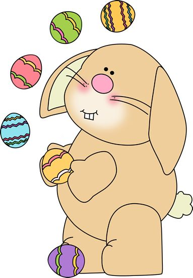 Easter Bunny With Eggs Clipart 53 best images ...