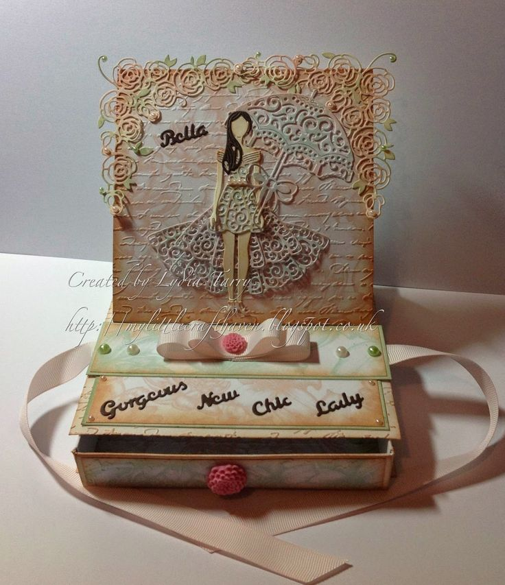Tattered Lace Dies: Beautiful Bella Box by Lydia Tarry