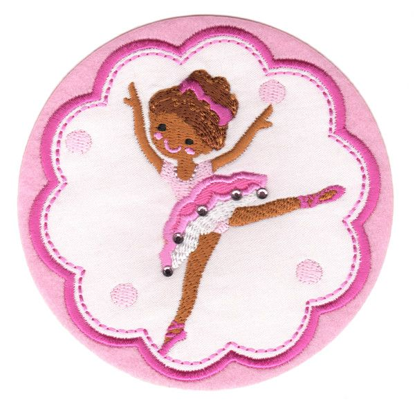 "Ballerina 3 Iron-On Applique Patch - Size: 4"" x 4"" (10 x 10 cm) - $5.49"