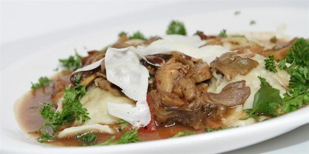 Try this Veal Stuffed Agnolotti in a 5-Mushroom Marsala Reduction with Fresh Italian Bread recipe. This recipe is from the show Come Dine With Me Canada.