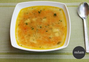 Zeleninová polievka so strúhanej zeleniny
