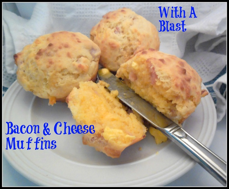 Bacon & Cheese Muffins .. quick breakfast or snack!