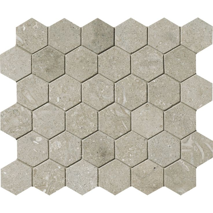 Olive Green Honed Hexagon Limestone Mosaics 10 3 8x12