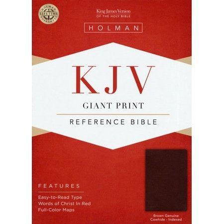 Giant Print Reference Bible-Brown Genuine Leat (KJV)