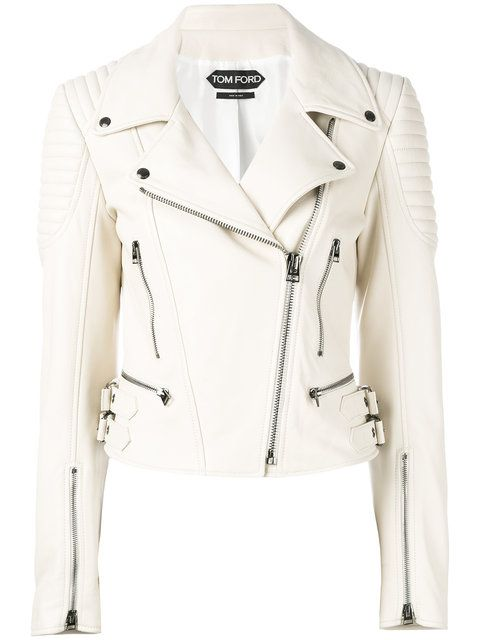 Shop Tom Ford leather biker jacket.