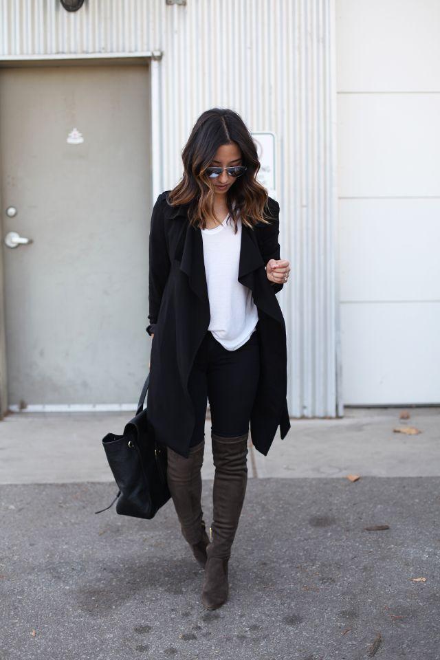 Best 25  Black coat outfit ideas on Pinterest | Winter coat ...