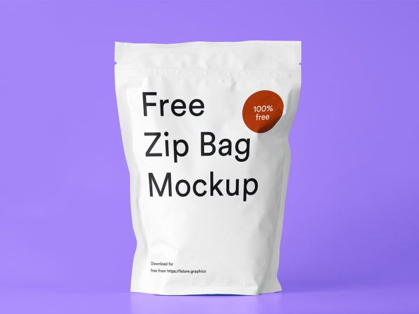 Download Free Zip Bag Mockup Free Mockup Bag Mockup Zipped Bag Packaging Mockup