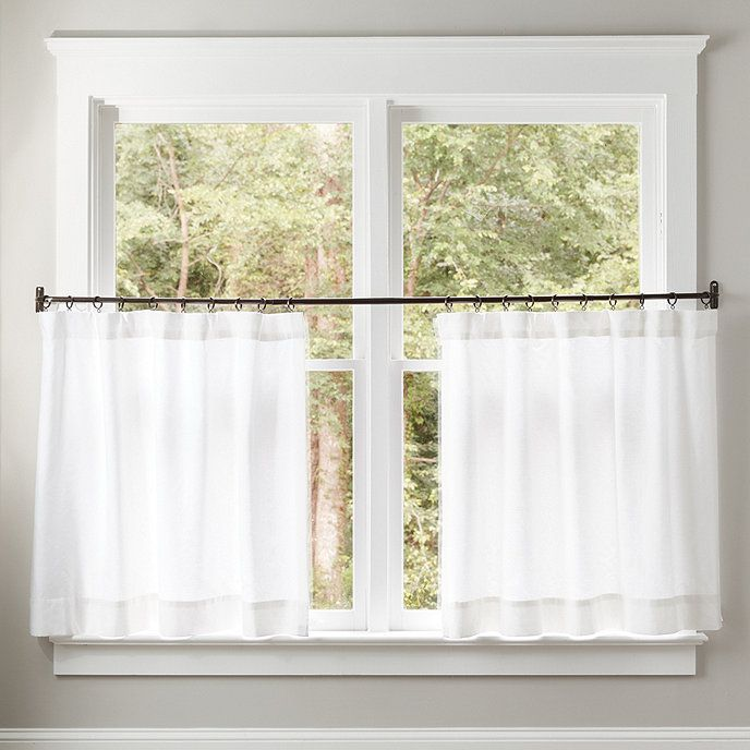 Classic 36 Inch Caf Curtain Panel Dimensions Overall 50 W X 36