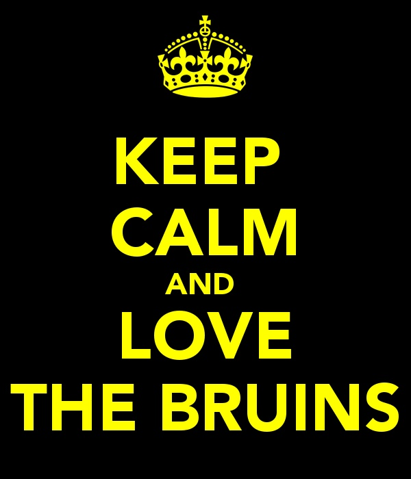 Keep Calm and Love The Bruins #bostonusa