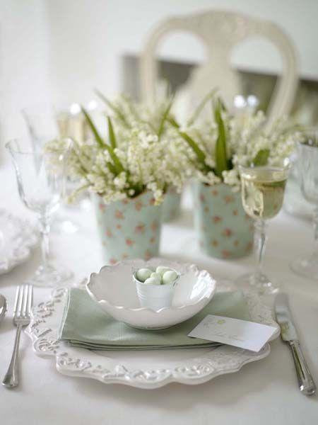 Easter Tablescapes ~ Vicki Sullivan   SimplyFreshVintage.com
