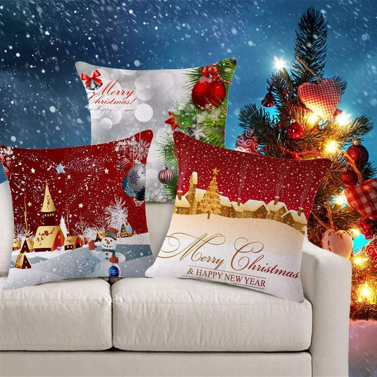 Decorate Home Cotton Linen Sofa Cushion Cover Tree Pattern Christmas Snowman Decorative Sofa Throw Pillow Covers Christmas gift #>=#>=#>=#>=#> Click on the pin to check out discount price, color, size, shipping, etc. Save and like it!