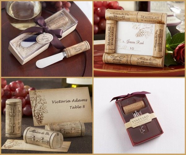 Vineyard Wine Cork Favors from HotRef.com