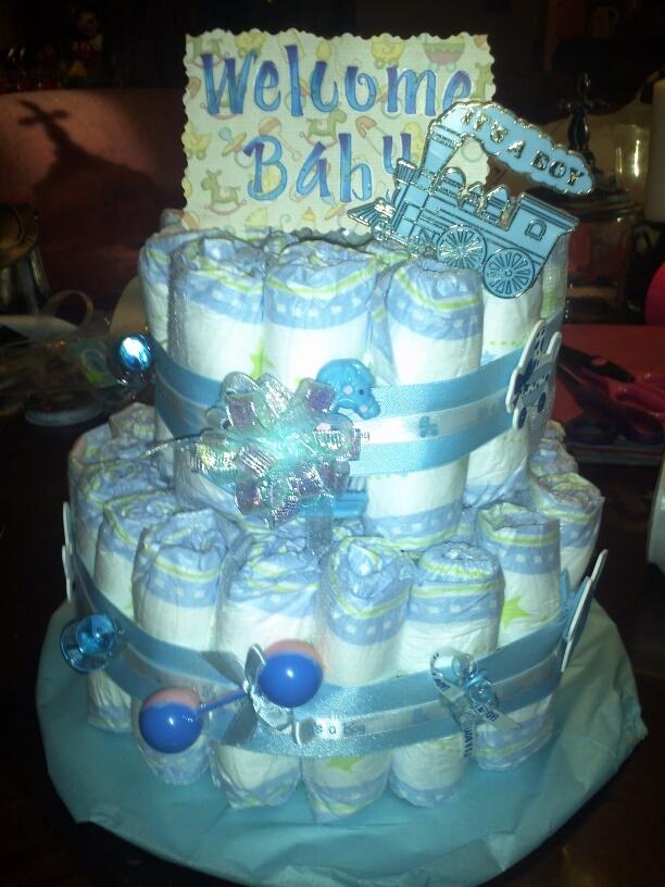 Pamper cake I made for a baby shower