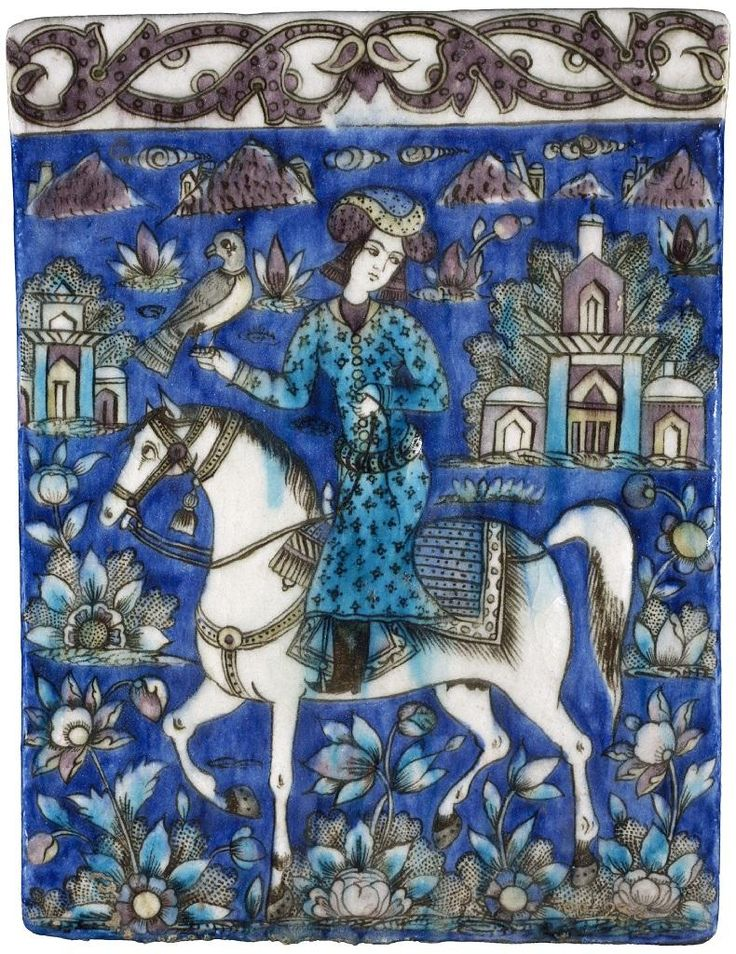 Persian tile, 19th century