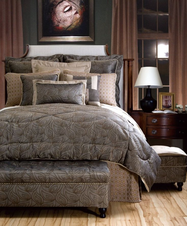 35 best images about bedding on pinterest king size comforters master bedrooms and king Master bedroom bed linens