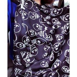 New Design Black Skull Pattern Chiffon Scarf