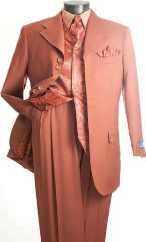 Vittorio St. Angelo Rust Fancy Vest Mens Fashion Suits HBL33V Size 38R